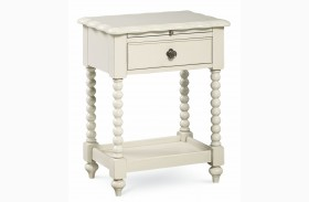 Inspirations Seashell White Boutique Nightstand
