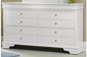 French Market Soft White 6 Drawer Youth Dresser