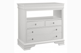 French Market Soft White 3 Drawer Media Chest