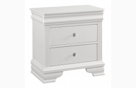 French Market Soft White 2 Drawer Nightstand