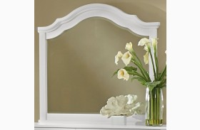 French Market Soft White Arched Mirror