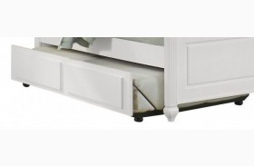 French Market Soft White Trundle Unit with Face Panel