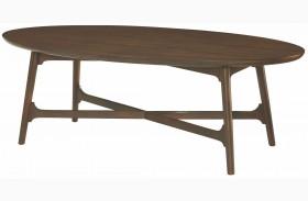 Mila Dark Walnut Oval Cocktail Table
