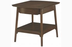 Mila Dark Walnut Rectangular Drawer End Table