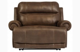 Austere Brown Zero Wall Wide Seat Recliner