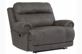 Austere Gray Zero Wall Wide Seat Power Recliner