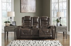 Game Zone Bark Power Reclining Loveseat with Adjustable Headrest