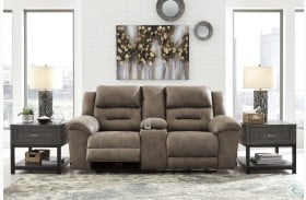 Stoneland Fossil Power Reclining Console Loveseat