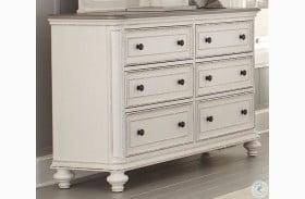 Baylesford Antique White And Brown Gray Dresser