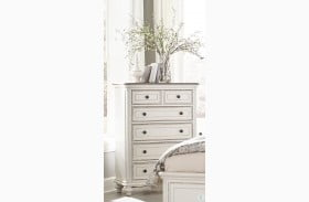 Baylesford Antique White And Brown Gray Chest