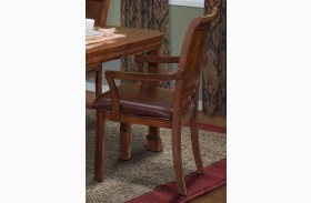 Sheridan Burnished Cherry Arm Chair
