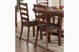 Lanesboro Distressed Walnut Dining Chair Set of 2