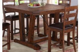 Lanesboro Distressed Walnut Counter Height Table