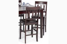 Abbie Bordeaux Counter Chair Set of 2