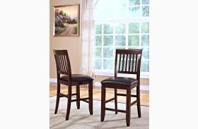 Kaylee Tudor Brown Counter Chair Set of 2