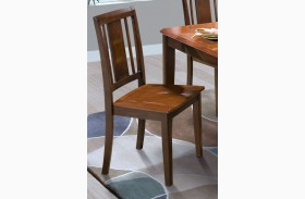Latitudes Ginger/African Chestnut Vertical Panel Back Chair