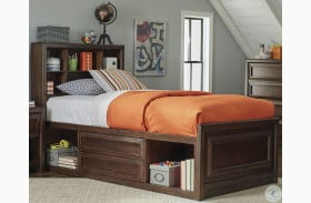 Greenough Maple Oak Twin Bookcase Storage Bed