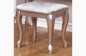 Caroline Metallic Lilac Stool