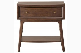 Modern Harmony Burnished Walnut Night Table