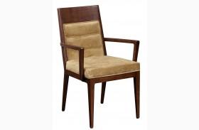 Modern Harmony Burnished Walnut Large Arm Chair Set of 2