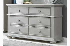 Summer House Dove Gray 6 Drawer Dresser