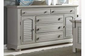 Summer House II Gray 5 Drawer Dresser