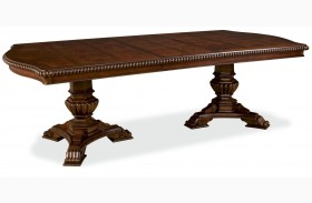 Villa Cortina Oval Double Pedestal Extendable Dining Room