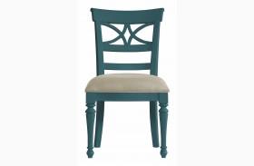 Coastal Living English Blue Sea Watch Side Chair