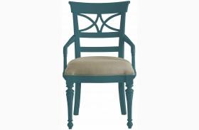 Coastal Living English Blue Sea Watch Arm Chair