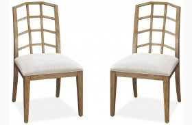 Moderne Muse Bisque Side Chair Set of 2
