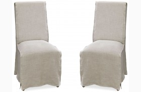 Moderne Muse Bisque Parisian Chair Set of 2