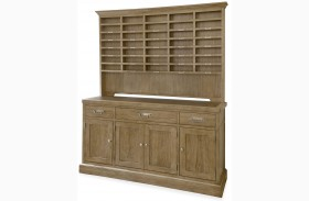 Moderne Muse Bisque Sideboard With Hutch