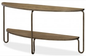 Moderne Muse Bisque Demilune Console Table