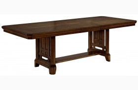 Estes Park Artisan Oak Rectangular Extendable Trestle Dining Table
