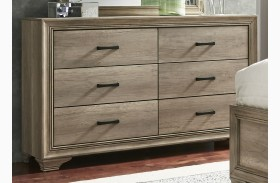 Sun Valley Sandstone 6 Drawer Dresser