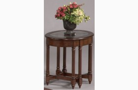 Canton Heights Dark Berry Oval End Table