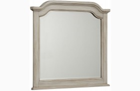 Arrendelle Rustic White and Cherry Arch Mirror