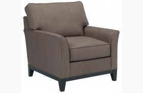 Perspectives Cognac Chenille Fabric Chair