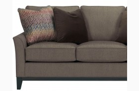 Perspectives Cognac Chenille Fabric Loveseat