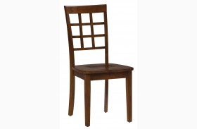 Simplicity Caramel Grid Back Chair Set of 2