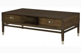 Stratus Umber Brown Pecan Rectangular Cocktail Table