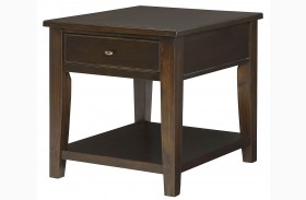 Boulevard Chocolate Brown Rectangular Drawer End Table