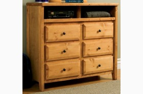 Wrangle Hill Amber Wash Media Dresser