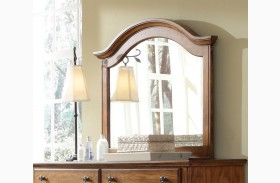 Hayden Place Light Cherry Arched Mirror