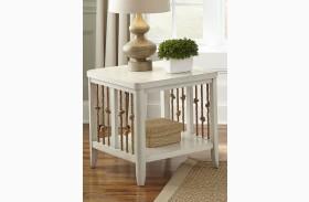 Dockside II White End Table