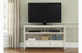 Dockside II White TV Console