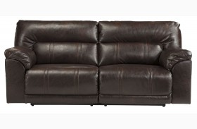 Barrettsville DuraBlend Chocolate 2 Seat Power Reclining Sofa