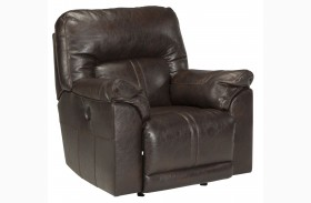 Barrettsville DuraBlend Chocolate Rocker Recliner