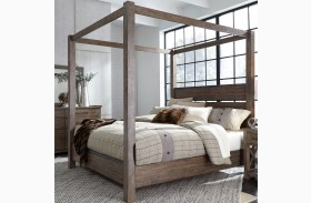 Sonoma Road Beaten Bark Poster Canopy Bed