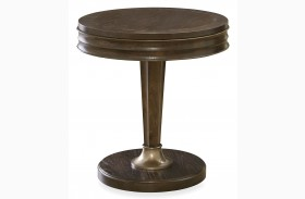 California Hollywood Hills Round End Table